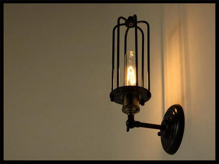 2017 Ac110 230v 32cm Long Black Wall Light Lamp Fixture Adjustable Angle E27 T300 Edison ...