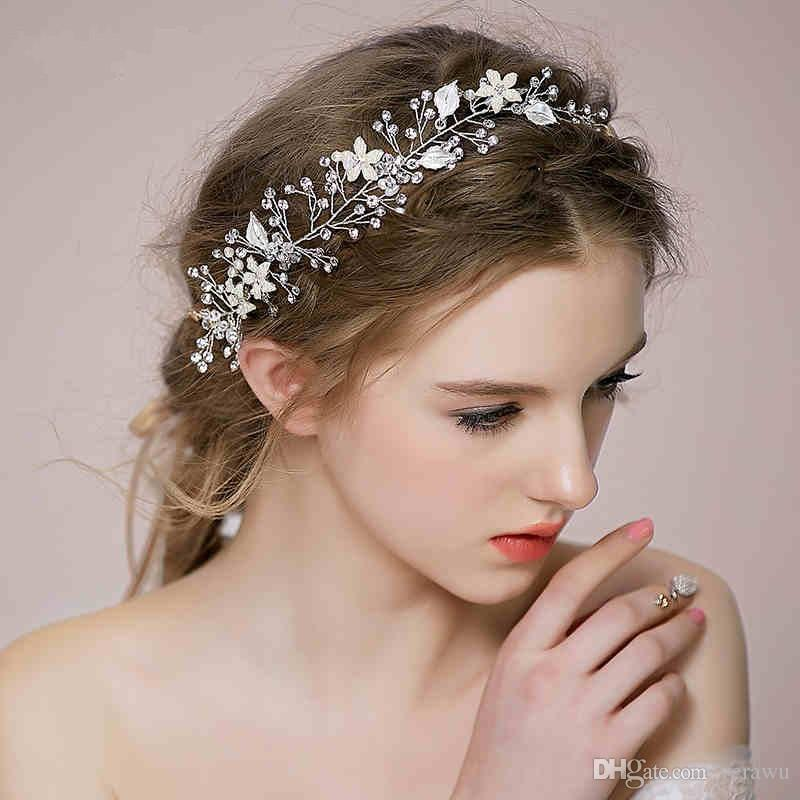 2015 new style bridal hair accessories hair band silver