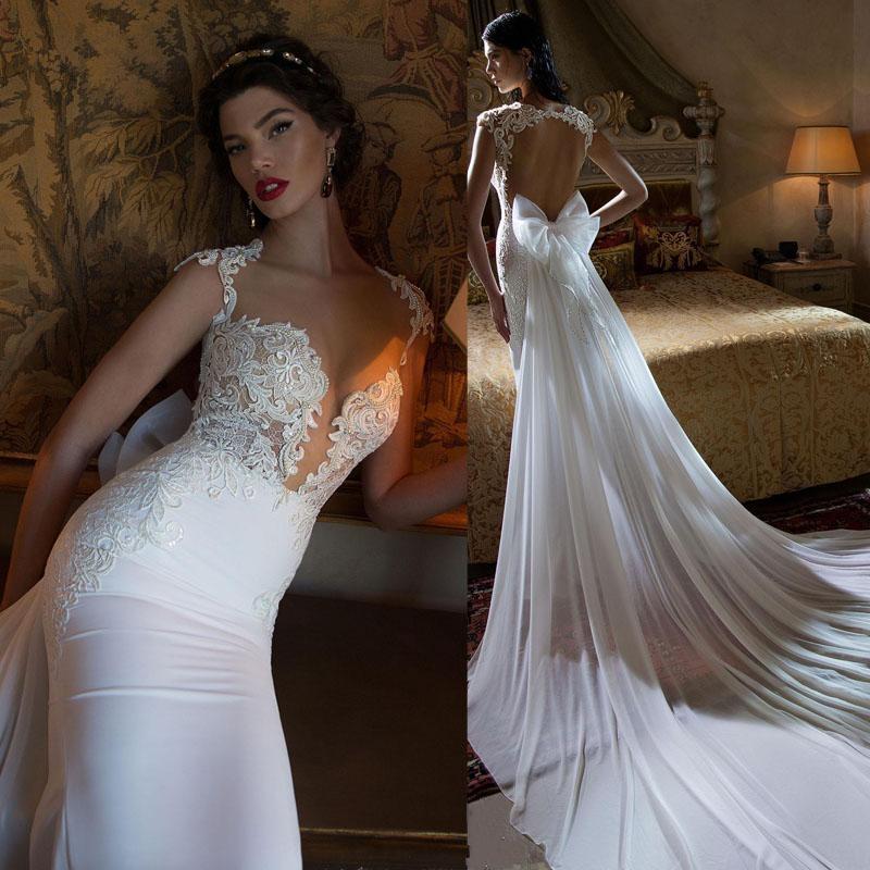 Wedding Dress Lace Cut Out Back : Berta wedding dress mermaid cut out back lace beading
