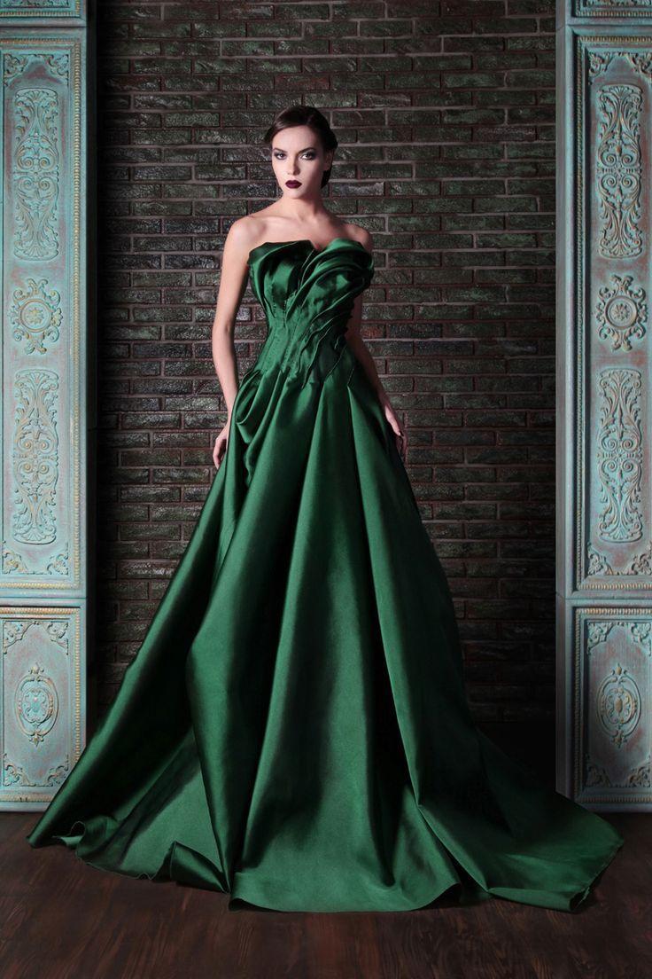 beautiful green color rami kadi 2014 fashionable wedding
