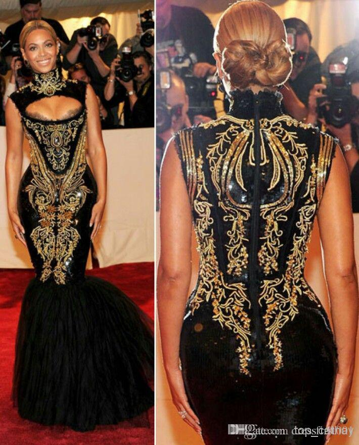 Custom Made Prom Dresses 2014 Hot Sexy Beyonce Met Gala Black And ...