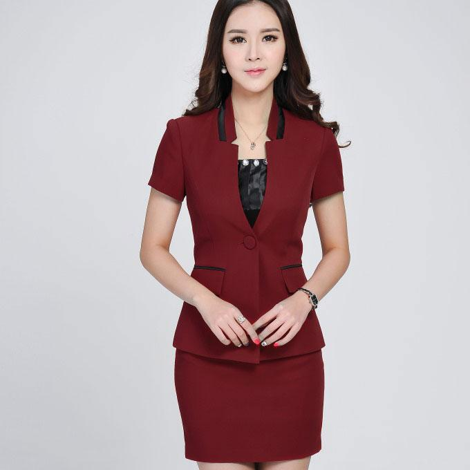 High quality summer style formal office uniform designs for Office uniform design 2016