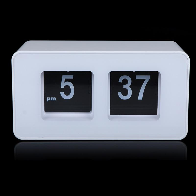 2017 Digital Retro Auto Flip Clock Classic Stylish Modern: white flip clock