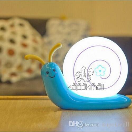Night Lights Baby Room Animal Cute Snail Night Light Kids Children Snail  Lamp Climbing Sleep Indoor Light Baby Toys