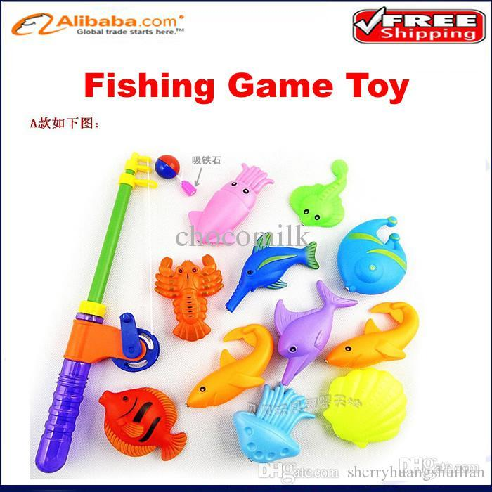 Wholesale plastic toy fishing rods for kids 1 rod 10 for Best fishing rod for kids
