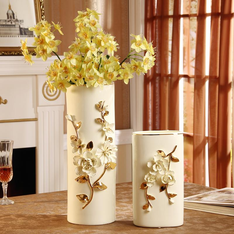 Floor Pottery Vases European Style Home Decorations Ornaments Wedding Gift Decoration Living