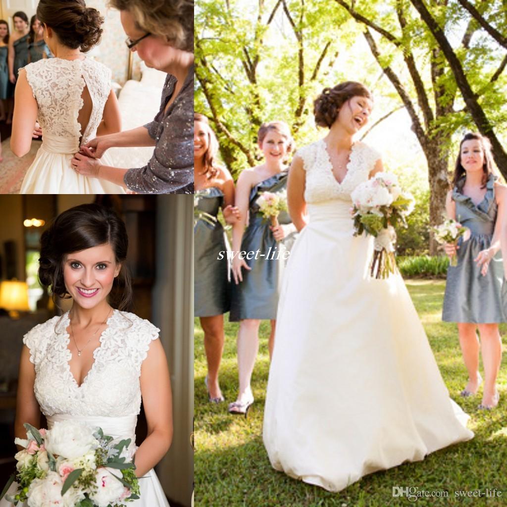 Spring 2016 Plus Size Wedding Dresses y V Neck