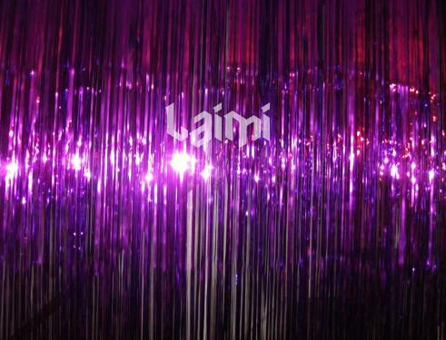 2M*1M One Purple Foil Tinsel Shimmer Curtains Party Pub House Door ...