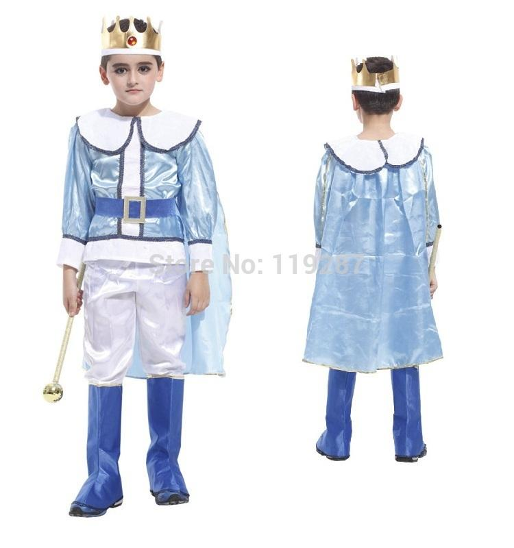 boys prince boy clothes costume show king of clothes halloween costumes stage performance prom party dress carnival costume halloween costume for kids - Clothes Halloween