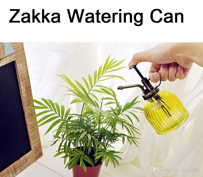 2017 2015 zakka watering cans chromatic stripe glass Small watering cans for indoor watering
