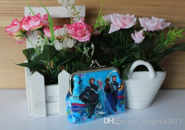 classic cartoon frozen bags mini printing kids clutch wallet children coin bag anne elsa wallet bag girls coin bag - Printing With Children
