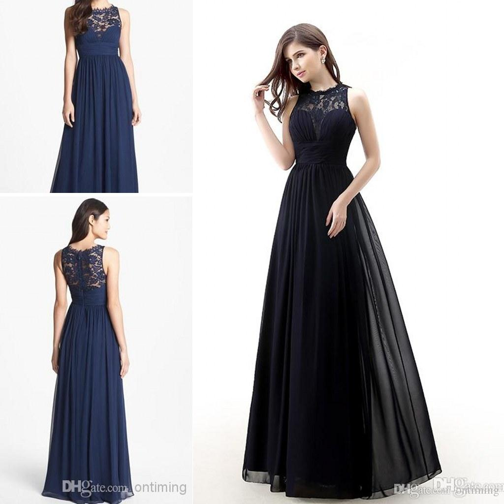 Wholesale Dark Navy Blue Bridesmaids Dresses 2015 Cheap