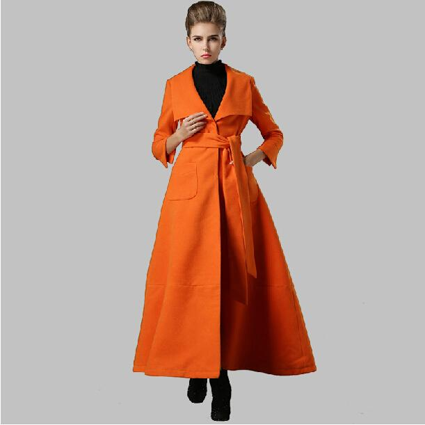 2015 Fashion Oversized Women Woolen Overcoat Women's Long Wool Winter Coats Woman Cashmere Trench Coat Female Casacos Femininos Online with $72.26/Piece on