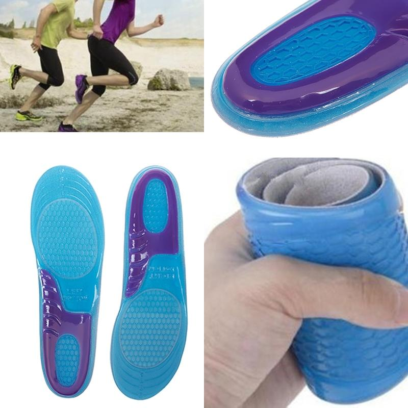 Men Women Silicone Gel Orthotic Arch Support Massage Sport Shoe Insoles Run Pad Easy To Carry
