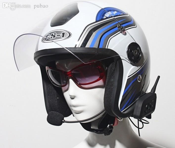 Wholesale Headset Motorcycle Helmet Headphone Bluetooth Intercom For 6 Riders Interphone With