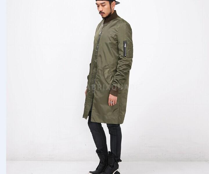 Big Size Men Clothing Side Zipper Black/Olive Green Ma1 Flight ...