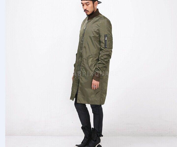 Wholesale Long Olive Green Jacket Men - Buy Cheap Long Olive Green
