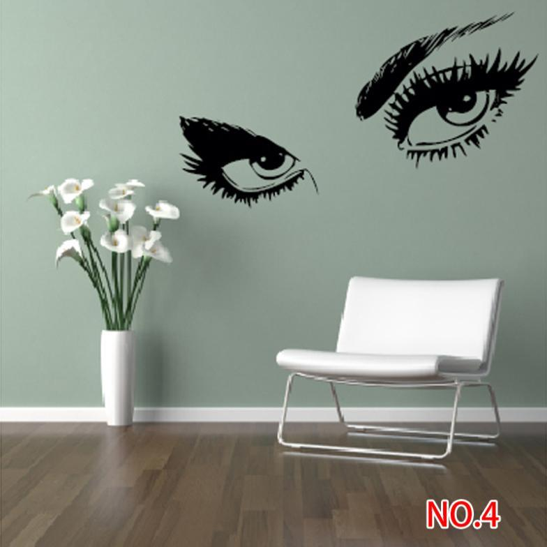Big Eyes Silhouette Decals Home Decor Removable Wall Sticker For Living Room  Bedroom With Tracking Sticker Wall Decor Decorative Car Stickers Sticker  Decor ... Part 88