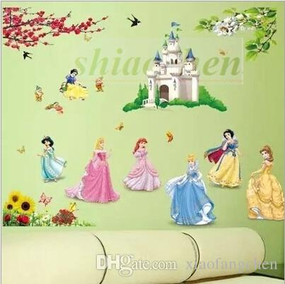 Cinderella Wall Stickers 3D Mural Backdrop Bedroom Living Room Poster Snow  White Wallpaper Princess Wall Sticker Home Nursery Decor A493 100  Cinderella Wall ... Part 86