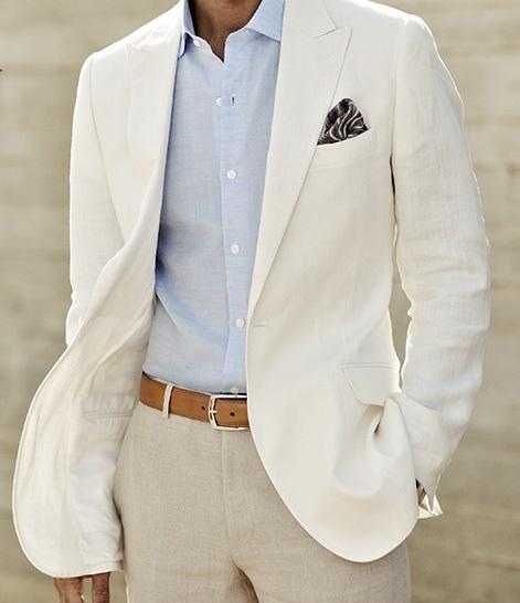 Custom Made To Measure Mens White Linen Suits,Bespoke Tailor Groom