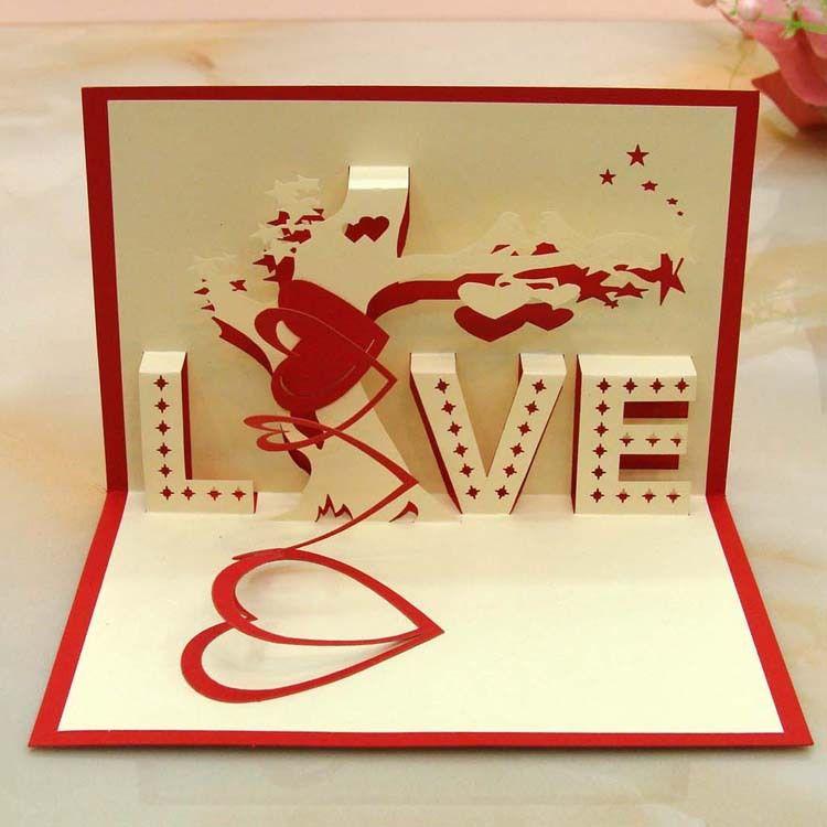 3 D Percept Love Tree Birthday Card Wedding Anniversary Speaking – 3d Valentine Cards