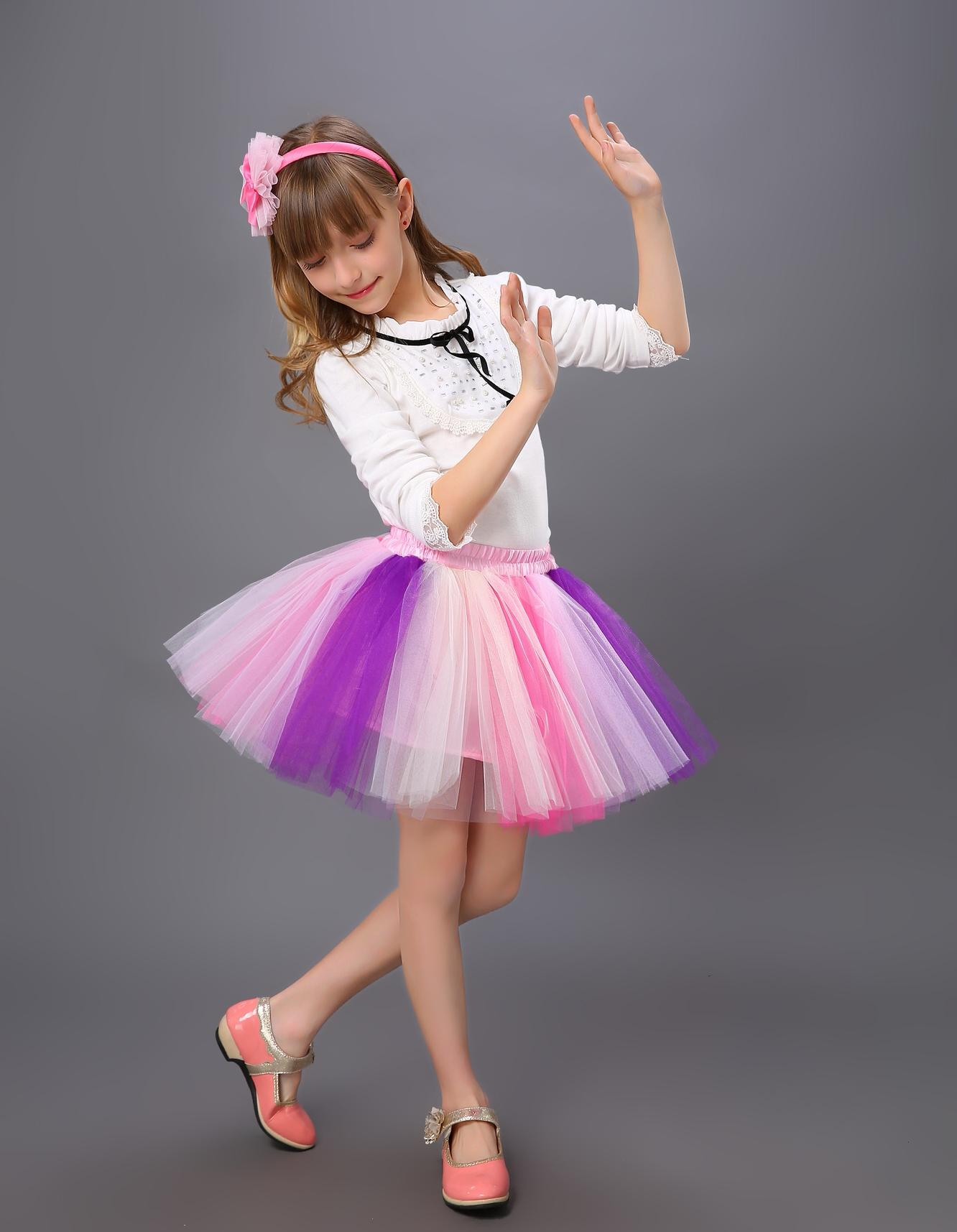Best 2015 New Fashion Lovely Little Girls Tutu Bubble Puff Skirts ...