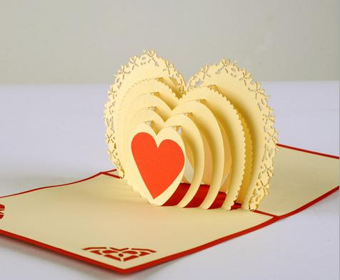 Lastest Design 3d Handmade Greeting Cards Creative Valentine Heart – Designs of Cards for Birthday