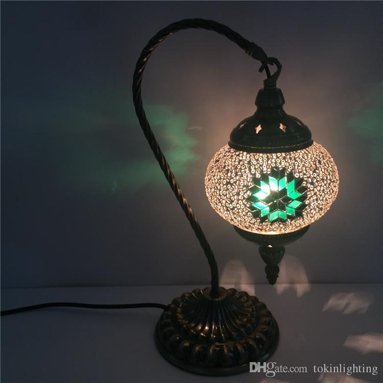 Desk Lamp Wattage: Snowflake 2-40W Wattage Desk Lamps Energy-saving E14 90-240V Swan Table,Lighting