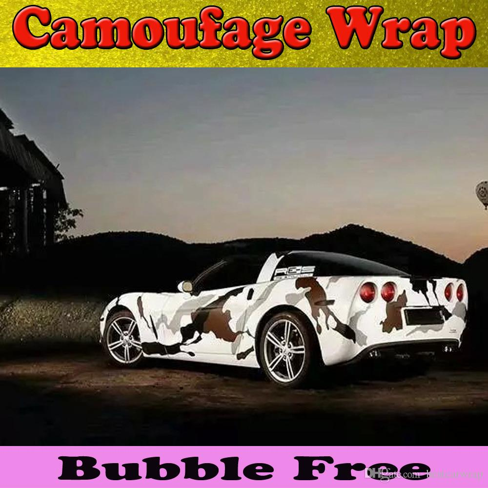Sports Arctic Camouflage Vinyl Car Wrap Film With Air ...