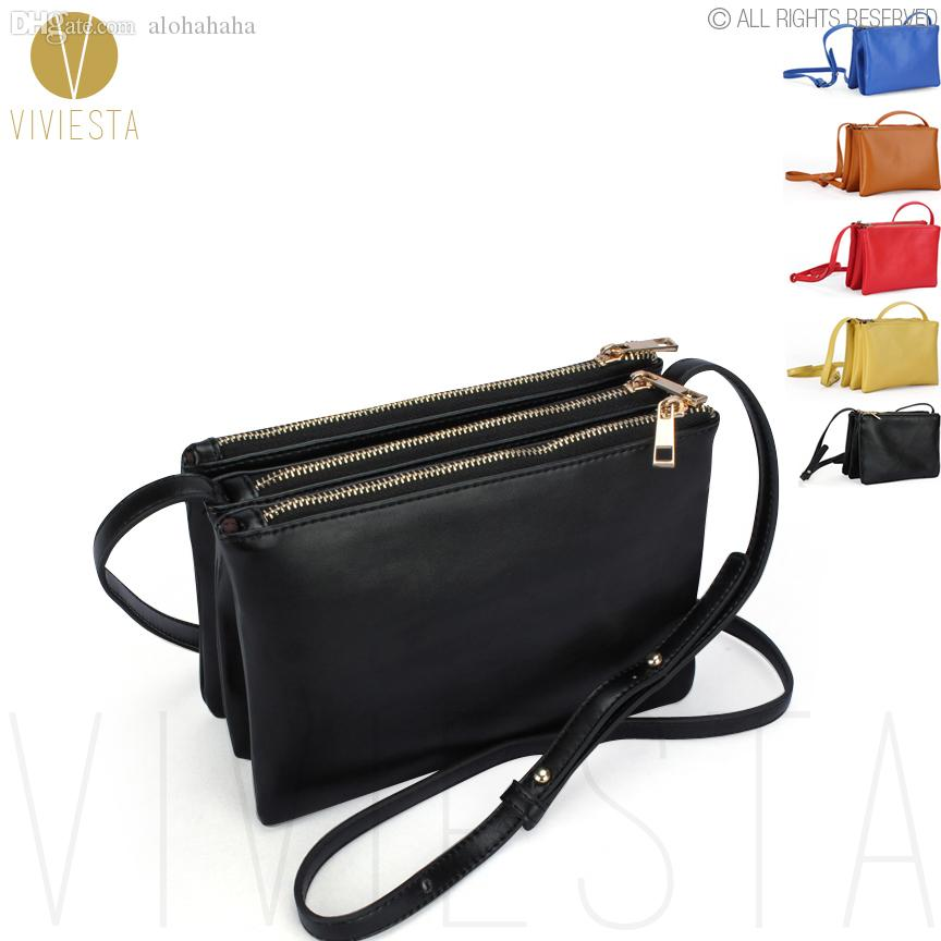Wholesale Triple Zipper Crossbody Bag WomenS Celebrity Pu Faux