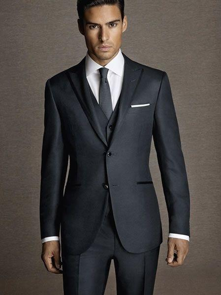 Cheap Dark Grey Wedding Suits For Men | Free Shipping Dark Grey