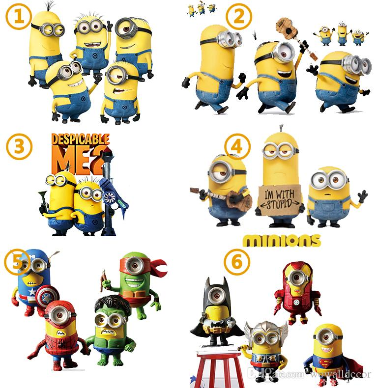 minions wall stickers despicable me decorative wall decals