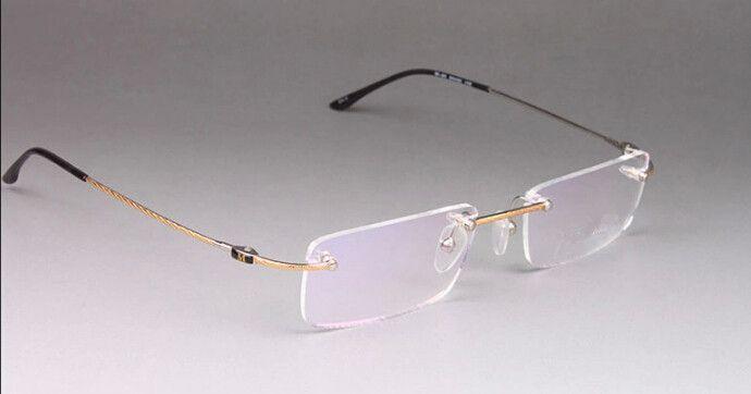 eyeglasses online store  NEW Rimless Eyeglass Frames Mens Optical Frame Fashion Alloy ...