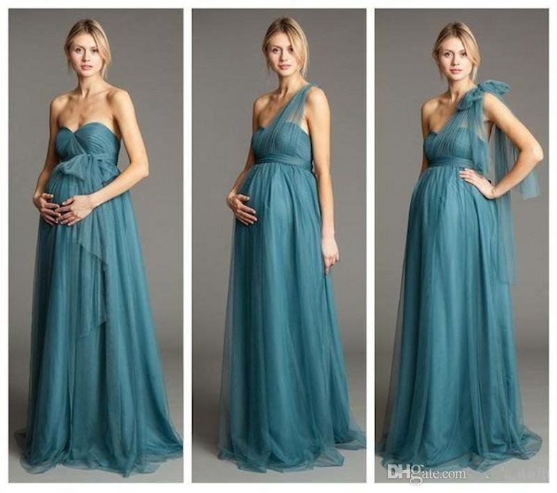 Dusty Blue Maternity Bridesmaids Dresses Convertible ...