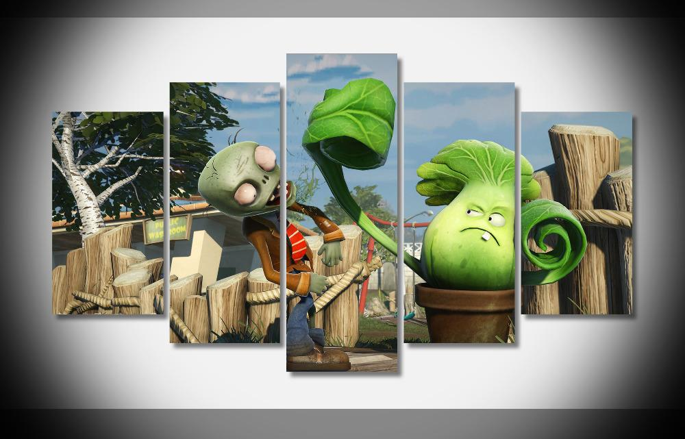 4970 plants vs zombies 2 garden warfare poster stretched for Zombie room decor