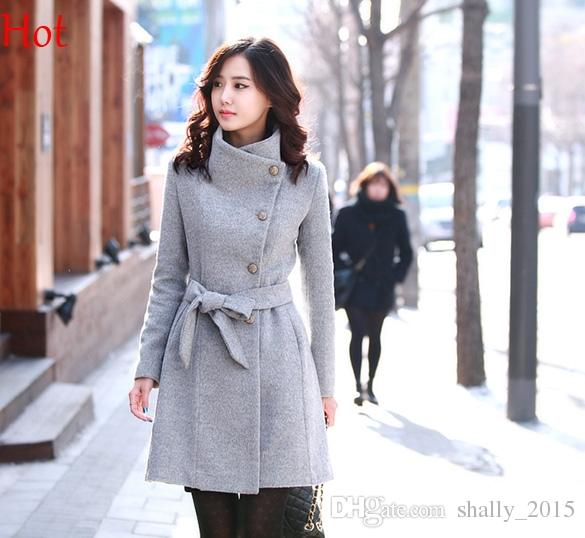 Grey Woolen Ladies Coat Online | Grey Woolen Ladies Coat for Sale