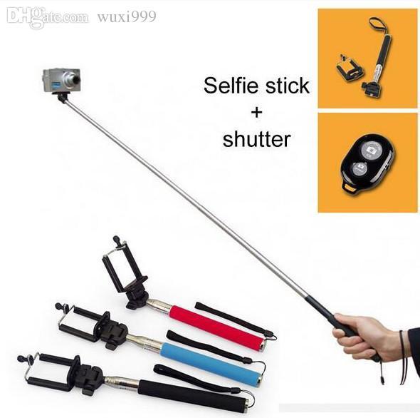 online cheap wholesale monopod selfie stick z07 1 with phone holder and bluet. Black Bedroom Furniture Sets. Home Design Ideas