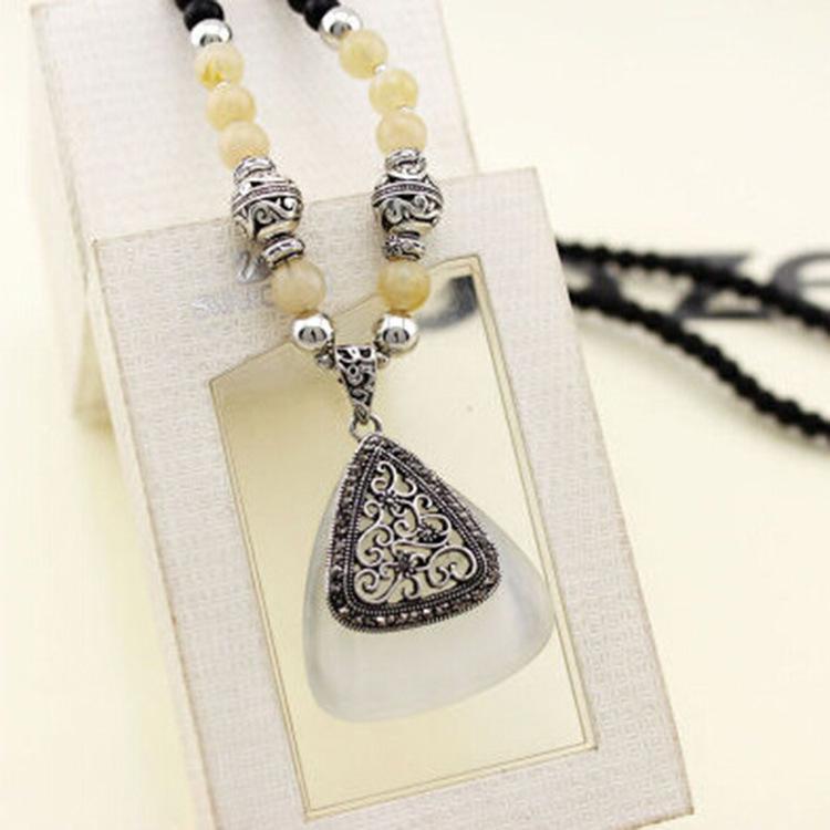 Korean high end fashion jewelry opal triangle retro for High end fashion jewelry