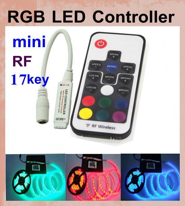 RGB Led Remote Control Led Christmas Light Controller Key Chain Rf ...