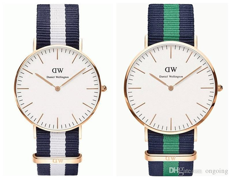buy daniel wellington watch women men leather nylon strap. Black Bedroom Furniture Sets. Home Design Ideas
