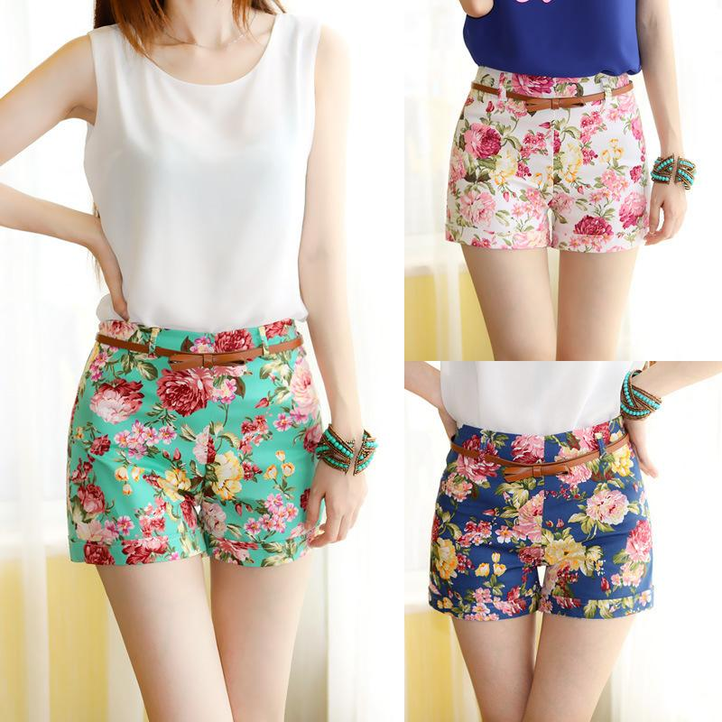 Buy Cheap Women 39 S Shorts For Big Save Promotion Fashion Designer Flower Pattern Floral Elastic