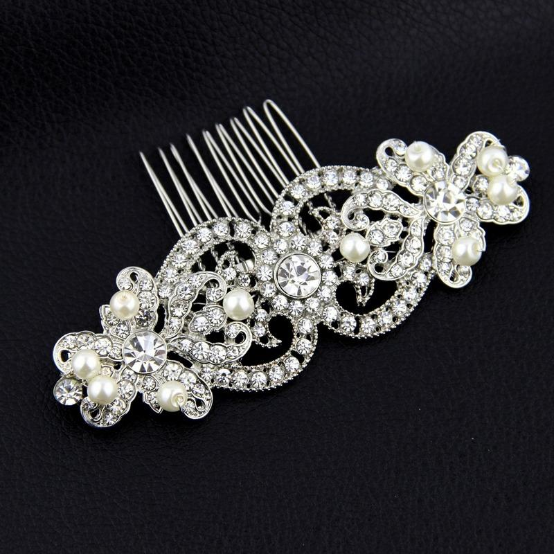 Rhinestone/Crystal Hair Combs Western Wedding Hair Accessories Bridal