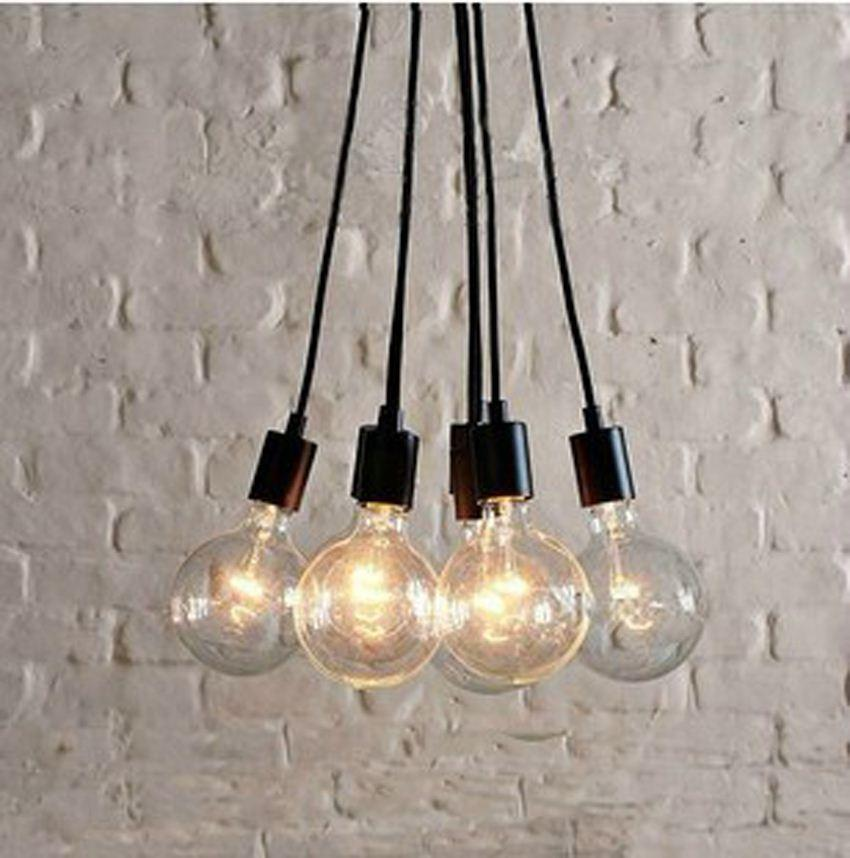 Modern Diy Black Pendant Lights Industrial Style Pendant