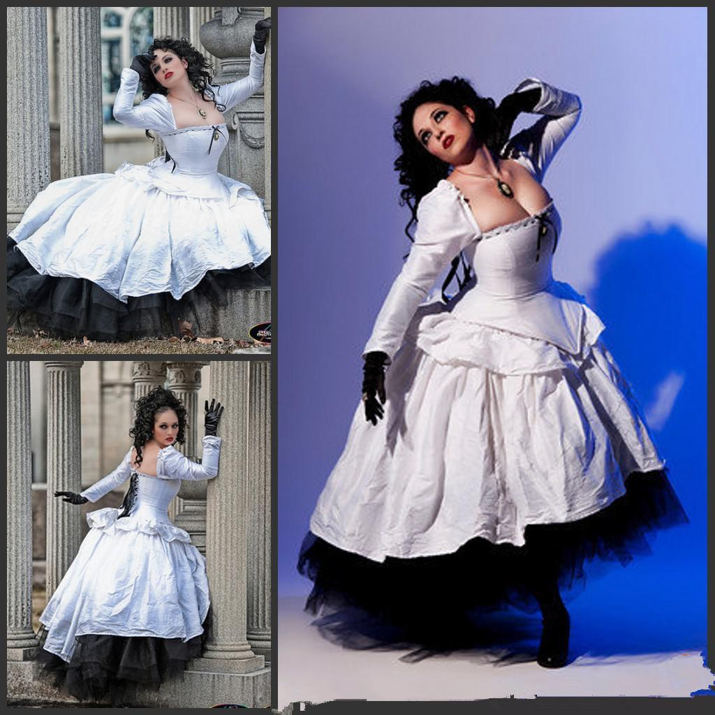 2015 alternative wedding gown gothic steampunk gothic for Alternative plus size wedding dresses