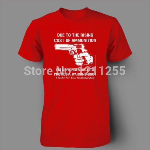 Mens T Shirts Cost Of Ammo Funny Guns Ar15 Ak47 T Shirt Men Short ...