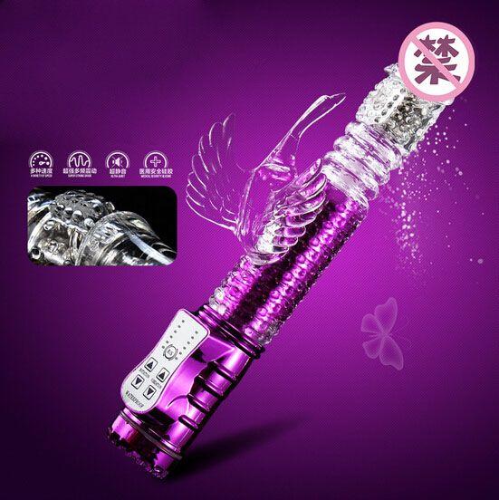 Vibrator with g-spot and clitoris stimulator