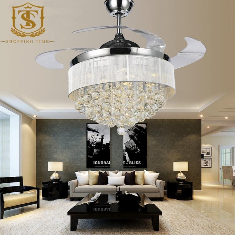 2018 European Crystal Ceiling Light With Fan 42inch ...
