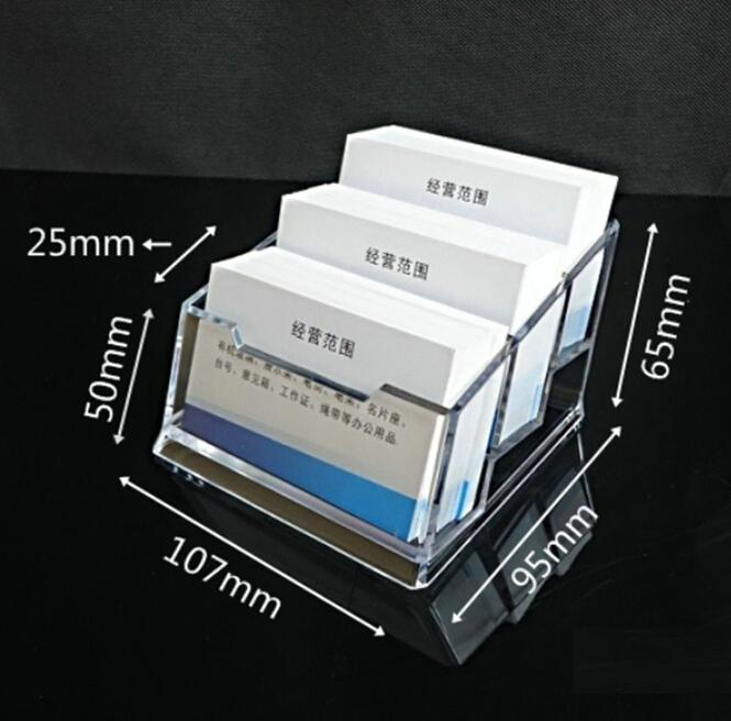 2017 Wholesale Business Card Stands 3 Layer Box Plastic