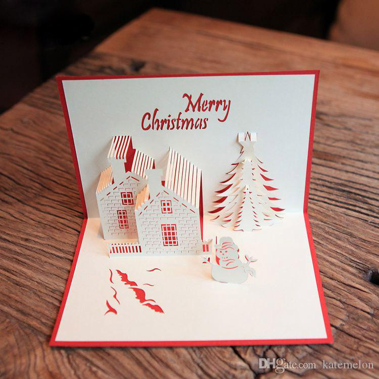 Business Gifts Creative 3d Diy Pop Up Greeting  Gift Cards With