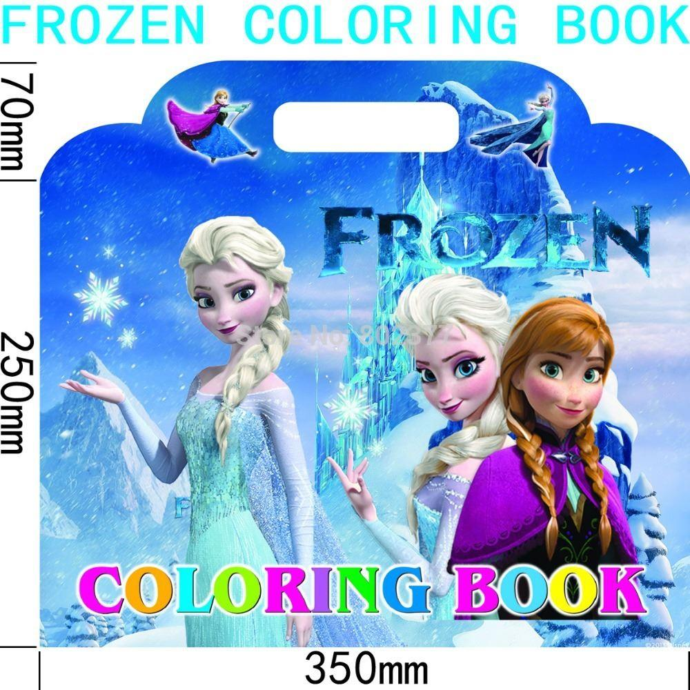 All 36 Book Frozen Cartoon 32x35cm Coloring Book With
